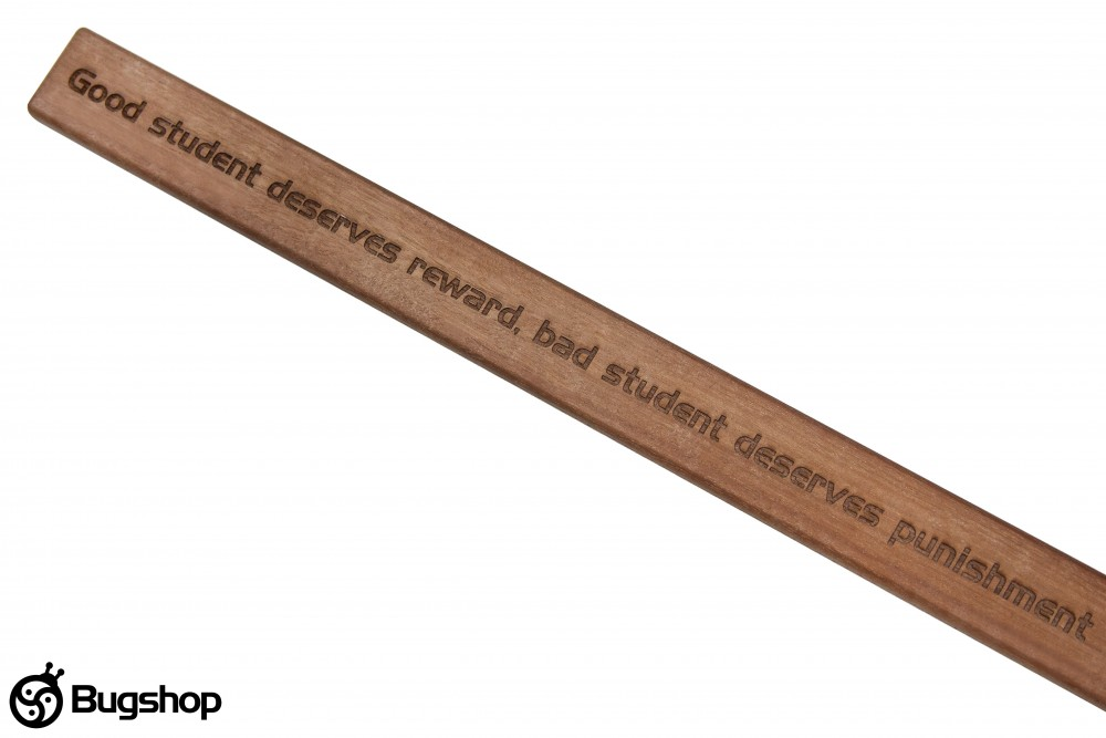 Dřevěná plácačka Bugshop™- školní pravítko